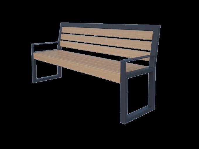Скамейка для сада со спинкой обычная картинка