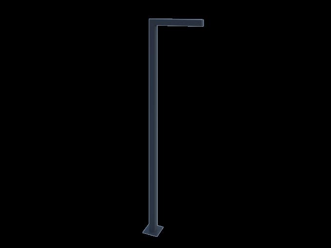 Фонарный столб прямой металлический картинка