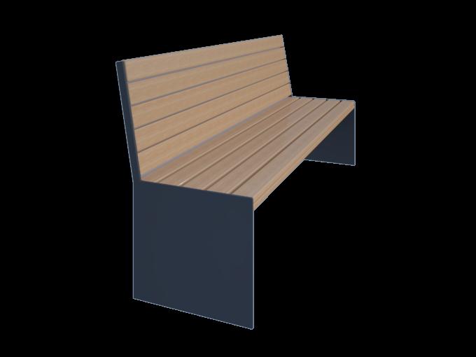 Скамейка со спинкой URB-SM.04.1
