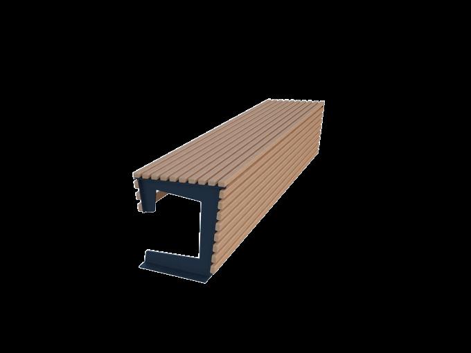Скамейка без спинки URB-SM.05.2
