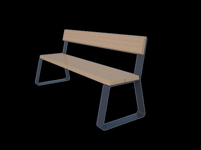 Скамейка со спинкой URB-SM.02.1