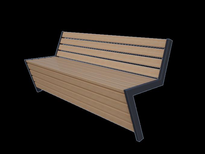 Скамейка со спинкой URB-SM.07.1