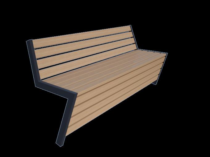 Скамейка со спинкой URB.192.27