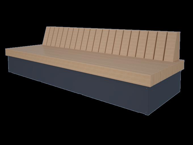 Скамейки со спинкой URB-SM.15.1