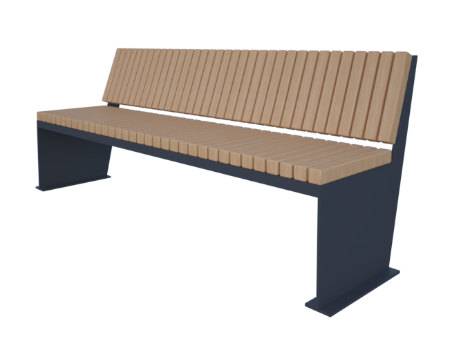 Ровная уличная скамейка для сада или парка картинка