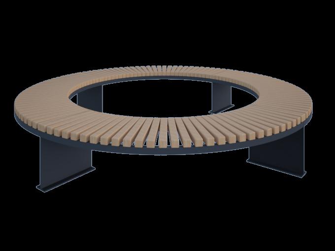 Скамейка круглая для парка без спинки картинка
