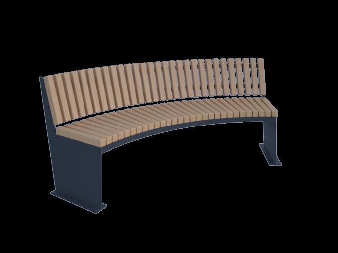 Полукруглая скамейка для сада картинка